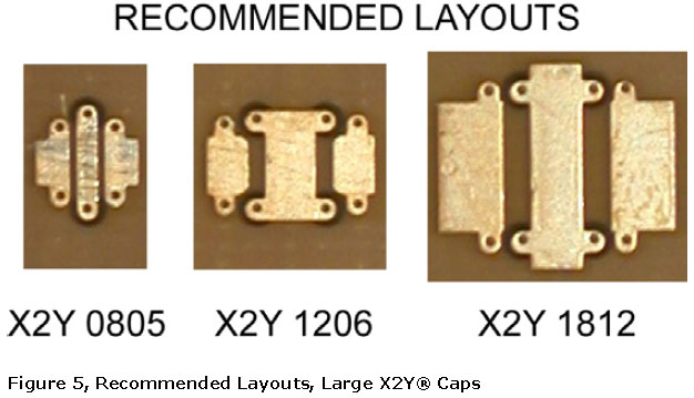 Large X2Y capacitor recommended layout