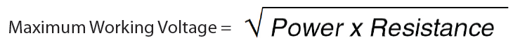 Maximum Working Voltage equation